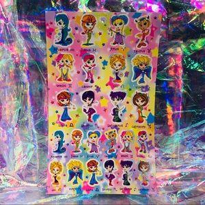 Full Lisa Frank Astrology/zodiac/horoscope sticker